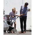 Ali Larter Takes Her Newborn Out For A Stroll