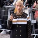 Jaden Smith Rubs Elbows At The Louis Vuitton Show In Paris