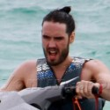 Russell Brand Rides A Jet Ski In Miami