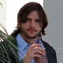 Ashton Kutcher Gets Coffee In Beverly Hills