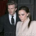 David & Victoria Beckham Dine At Minetta Tavern For Valentine's Day