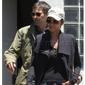 Halle Berry And Olivier Martinez Leaving The Little Door