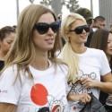 Paris And Nicky Hilton Run For Tokidoki Relief