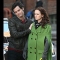Leighton Looks Less Than Thrilled To Be On Set