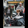 <em><font color=orange>X17 XCLUSIVE</em></font> - Newlyweds Sacha Baron Cohen And Isla Fisher Drop Their Daughter In The Street!