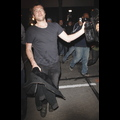 Sam Worthington Plays With Photogs Outside Of Trousdale