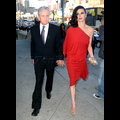 Michael Douglas And His Lady In Red