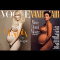 Nine Months Pregnant Claudia Schiffer Poses Nude, Pulls A Demi