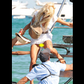 Victoria Silvstedt Gives A Deck Hand An Extra Tip