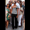 The First Lady Shows Some Shoulder In Spain