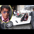 Stallone Promotes <em>Expendables</em> In Style