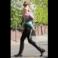 Rebecca Gayheart Totes Her Bundle Of Joy Around Town