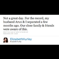Elizabeth Hurley Tweets About Split From Husband After Cheating Report Surfaces