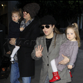 Lisa Marie Presley And Her Family Arrive At LAX