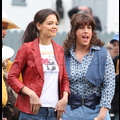 Katie Holmes And Daughter Suri On <em>Jack And Jill</em> Set With Adam Sandler