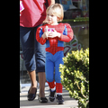 Jayden James Grabs Frozen Yogurt As Spider Man