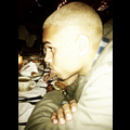 Chris Brown Goes Blonde