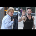Adam Levine And Owen Wilson At <em>Jimmy Kimmel</em>