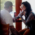 "<em><span class=""exclusive"">X17 EXCLUSIVE</span></em> - Kat Von D And Jesse James' Breakup Dinner"
