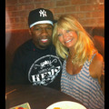 50 Cent Has A Surprise Lunch With Goldie Hawn