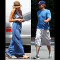 """<em><span class=""""exclusive"""">EXCLUSIVE PHOTOS</span></em> - Leo And Blake: Matching Clothes, Matching Burgers"""