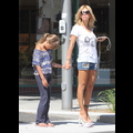 Shauna Sand Wears Polka Dot Lucite Heels, Embarrasses Daughter