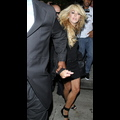 Dina Lohan Nearly Gets Tackled By Her Own Security