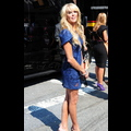 Dina Lohan Has The Blues During Fashion Week