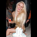 Heidi Montag Holds On Tight To Her Birthday Bubbly