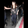 Miranda Cosgrove's Crutches Can't Keep Her From Having A Good Time