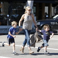 Sharon Stone Is A Mom On The Run