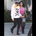 Christina Aguilera And Jordan Bratman Pick Up Their Little Pumpkin At School