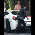 Kim Kardashian Keeps Her Head Down In Beverly Hills