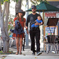 "<em><span class=""exclusive"">EXCLUSIVE PHOTOS</span></em> - Natalie Portman And Benjamin Millepied Take Baby Aleph To The Farmer's Market"