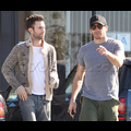 """<em><span class=""""exclusive"""">EXCLUSIVE PHOTOS</span></em> - Jake Gyllenhaal And Adam Levine Have A Bromantic Sushi Date"""