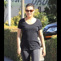 Mila Kunis Battles The Bulge At The Gym