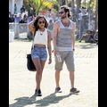 Zoe Kravitz And Penn Badgley Get Cozy At Coachella