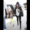 Salma Hayek Jets To Paris With Valentina For Mother's Day