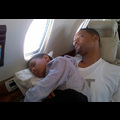 Willow Smith Takes An In-Flight Snooze On Dad Will's Lap