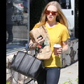 Amanda Seyfried Gets A Caffeine Boost