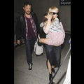 Michelle Williams, Matilda Ledger And Jason Segal Look Like A Happy Family As They Arrive Home To NYC