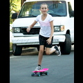 Noah Cyrus Shows Off A Few Tricks On Her Neon Pink Skateboard