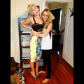 Miley Cyrus Strikes A Peace-Lovin' Pose With Mom Tish