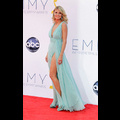 Heidi Klum Turns Heads In Aqua On The Emmy Red Carpet