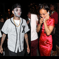 Chris Brown And Karrueche Tran Attend Halloween Party Together