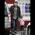 Ben Affleck And Daughter Seraphina Bundle Up In Brentwood