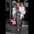 Mel B. Enjoys A Dinner Date With Her Three Daughters