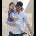 Gabriel Aubry Spends Time With His Little Angel