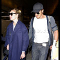Garrett Hedlund And Kirsten Dunst Return From Paris