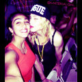 Madonna Smooches Daughter Lourdes In Blog Photo